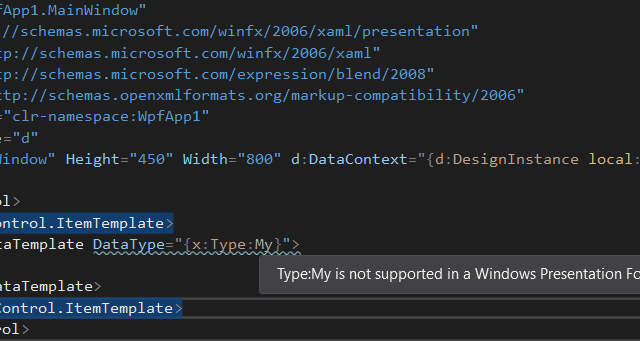 Specifying designer datacontext elements in XAML